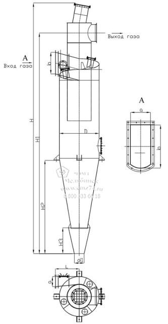 Схема циклона ЦН-15 взрывобезопасного на сайте ЧЭМЗ