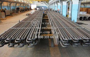 Производство трубного пучка теплообменников на заводе ЧЭМЗ