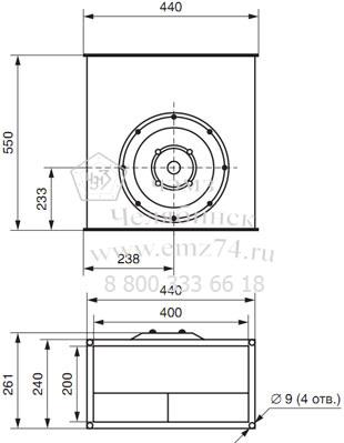 Габаритно-присоединительная схема вентилятора ВКП 40-20 на сайте ЧЭМЗ