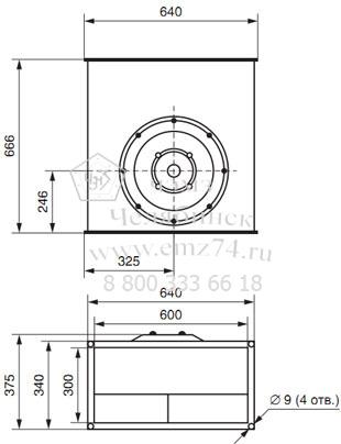 Габаритно-присоединительная схема вентилятора ВКП 60-30 на сайте ЧЭМЗ