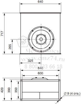 Габаритно-присоединительная схема вентилятора ВКП 60-35 на сайте ЧЭМЗ